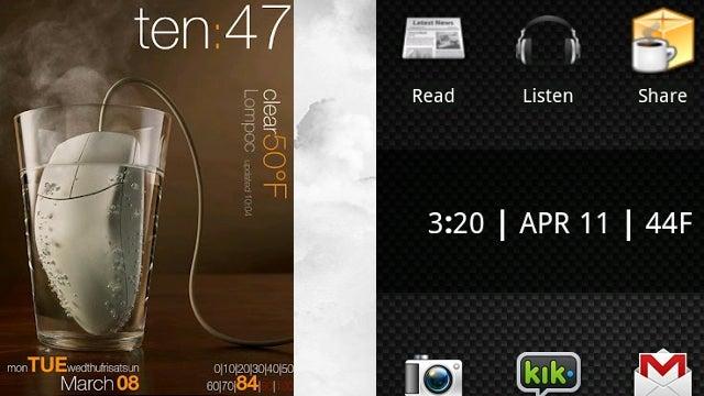 Minimalistic Text Creates Stylish, Customized Android Data Widgets