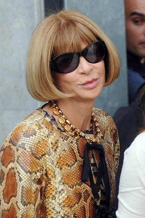 Anna Wintour Takes Her Snake Coat on a World Tour