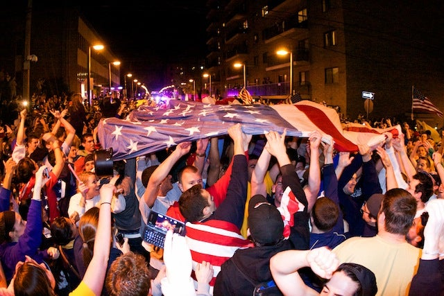 College Students Celebrate Bin Laden's Death With Patriotic Backflips, Nudity, Beer: A Gallery