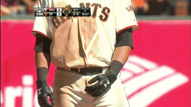 Watch Joe Panik's Pinkie Disappear As He Slides Into Second Base