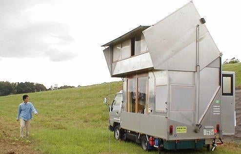 Japanese Two Story Transforming RV Takes Road Trip Across Japan