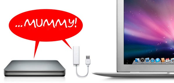Meet MacBook Air's Kids: Ethernet and SuperDrive Peripherals
