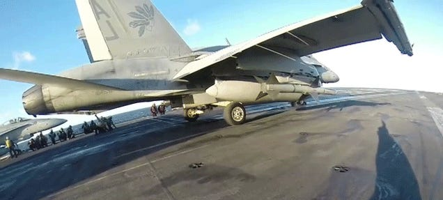 Helmet Cam Shows What It's Like To Launch A Jet From A Carrier Deck