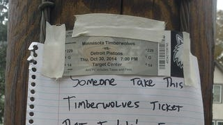 Anyone Want This Timberwolves Ticket? No? OK.