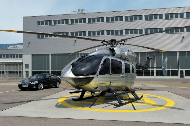 This Mercedes-Benz helicopter is an S-class for the skies