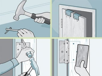 Hammer Hinge Pins to Keep Open Doors from Closing