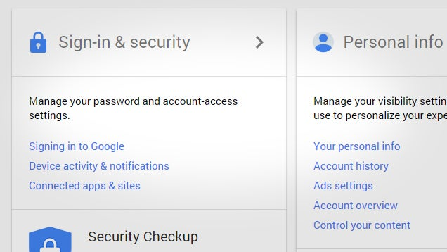 Google's New My Account Page Makes Managing Your Account Easier