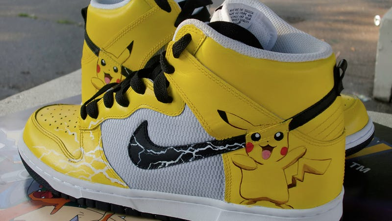 These Custom Pikachu Sneakers Are Electric Magic For Your Feet