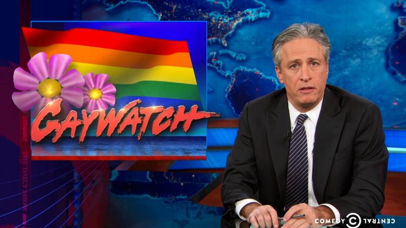 Jon Stewart Puts Holiday Homophobia on Blast