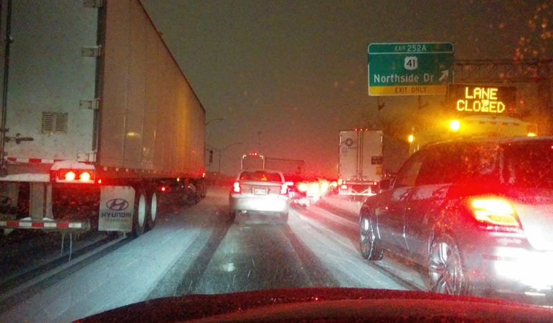How One Driver Survived Atlanta's Winter Hellscape