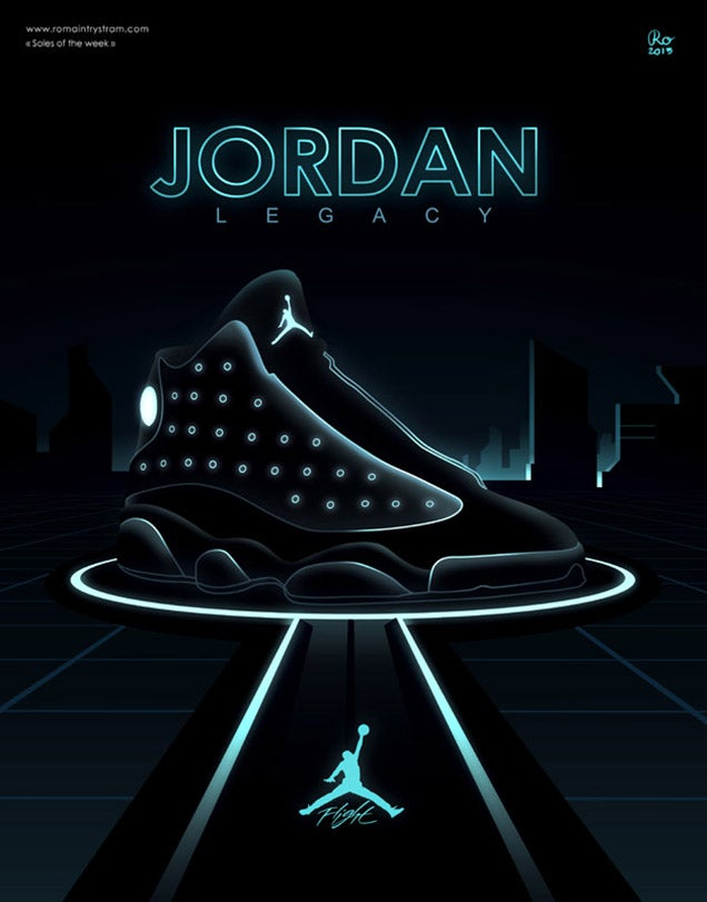 They should make these Tron sneakers for real