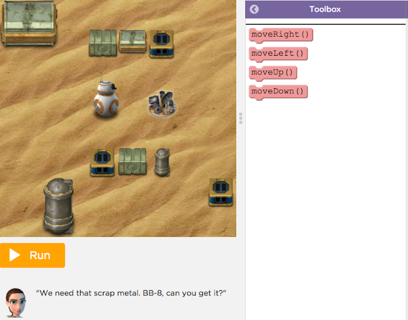 learn how to code with star wars the force awakens characters