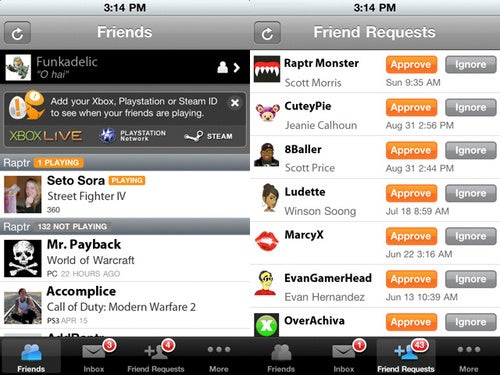Keep Up With Your Gamer Friends With Raptr On Your iPhone