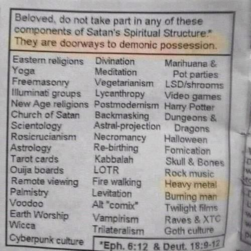 Demonic posession, anyone?