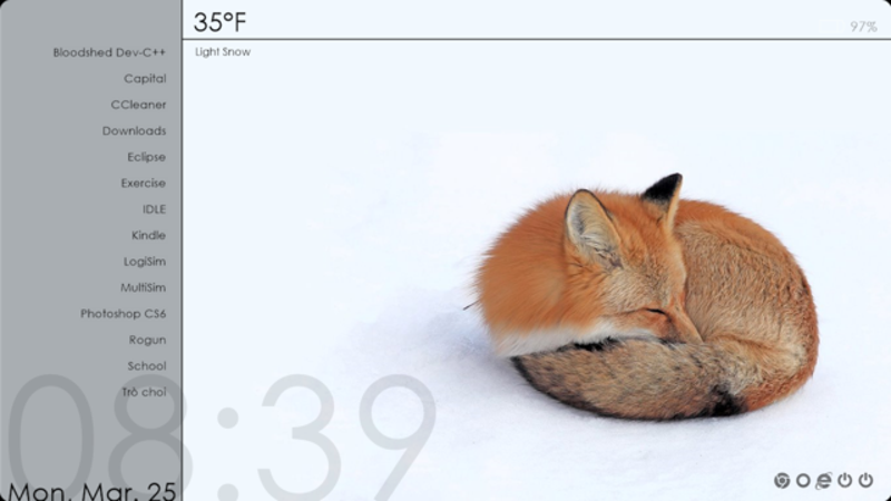 The Sleepy Fox Desktop