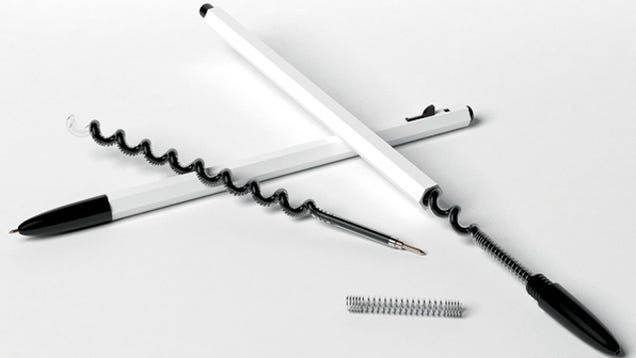 You Can Store More Ink in these Spiral Ballpoint Pens