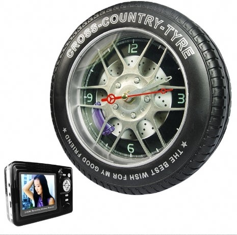 Racing Rim Camera Is Clock, Spy Cam, MP4 Player, Impossibly Fugly
