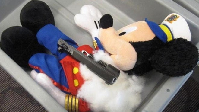 TSA Finds Gun-Stuffed Mickey Mouse in Four Year-Old's Luggage