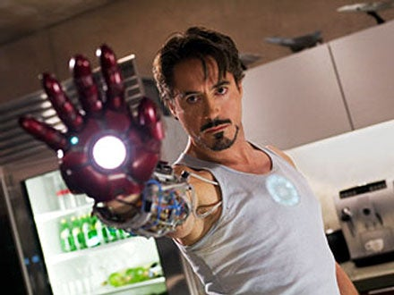 Iron Man Shows Off His Gauntlet