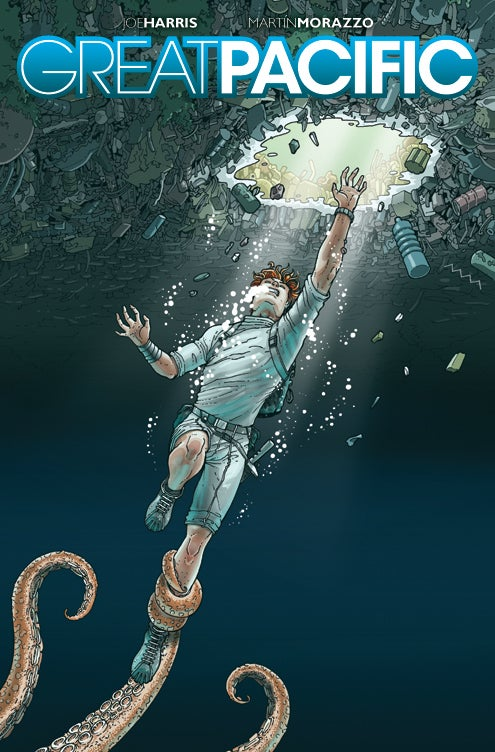 A sneak preview of Great Pacific, a new science fiction comic about the Pacific Garbage Patch