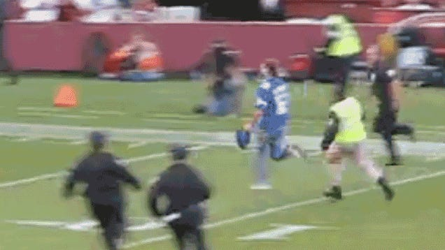 Idiots On The Field Invade SNF, And Jerome Simpson Leveled One Of Them