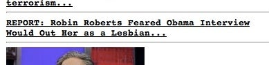 Sources: Robin Roberts Feared Obama Interview Would Out Her as a Lesbian (SEE UPDATES BELOW)
