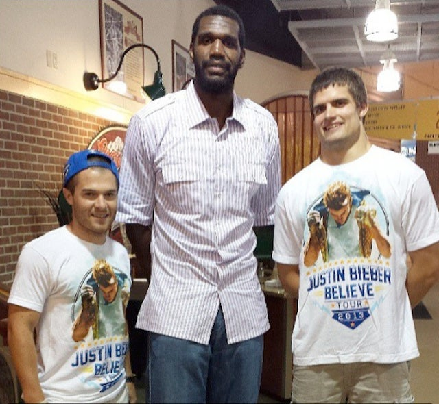 Greg Oden Brought His Swag To Last Night's Justin Bieber Concert