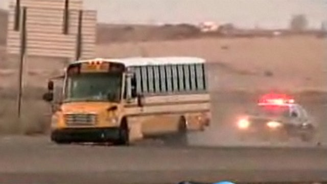 Man In Stolen School Bus Leads Police On Highway Pursuit