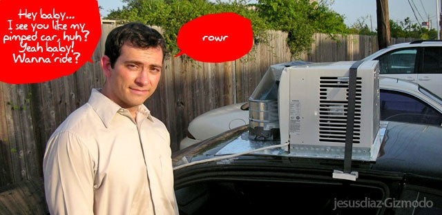 Area Man Installs Home A/C Unit on Car, Looks Pleased with Himself - Inexplicably