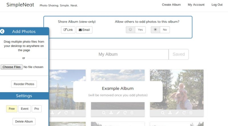 SimpleNeat Simplifies Creating, Collaborating & Sharing Photo Albums