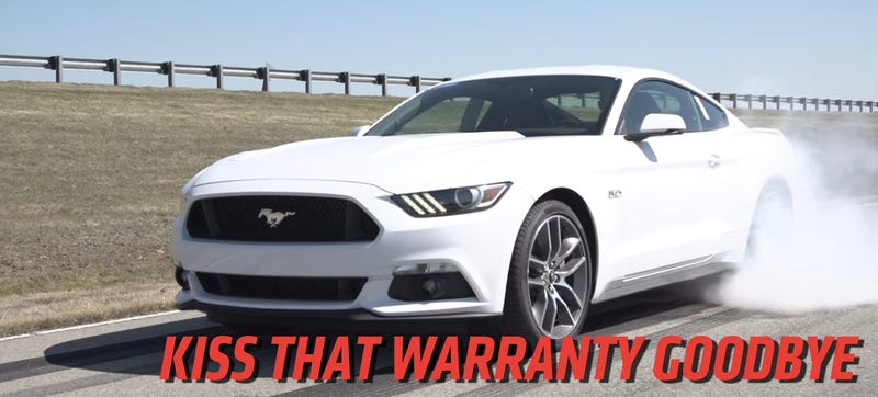 Use The 2015 Mustang's Burnout Control To Race, Lose Your Warranty