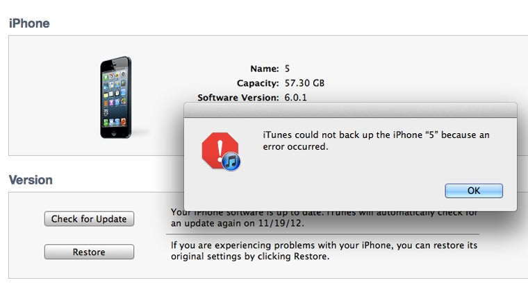 Have You Been Able to Back Up Your iPhone 5 Since Updating to iOS 6.0.1?