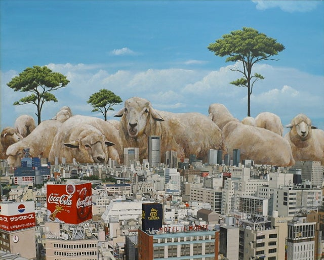 Kaiju-sized sheep don't stomp Japan, they slowly graze the populace into dust