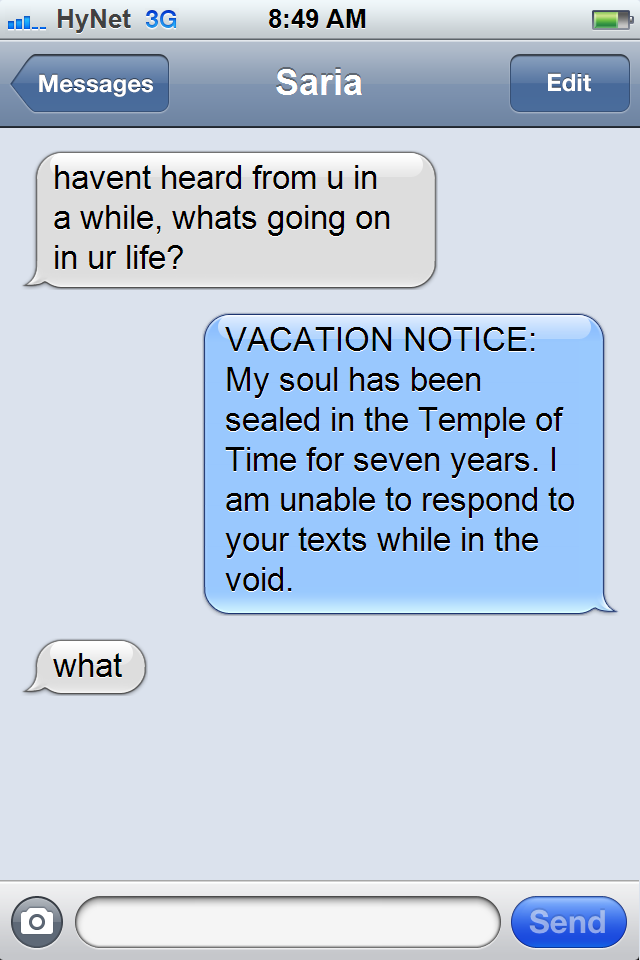 'Texts From Zelda' Imagines Hyrule Infested With iPhones