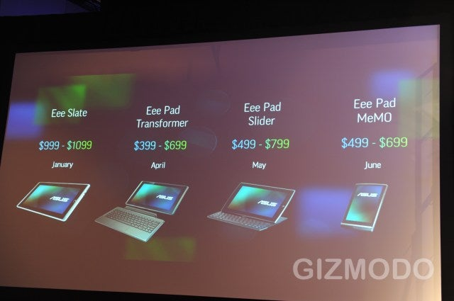 The Many Faces of Asus's Android Tablets