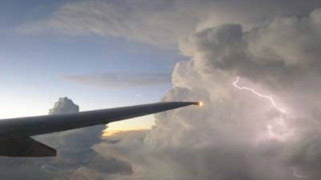 Could your airplane be shot out of the air by lightning strikes?