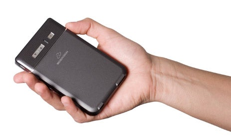 Microvision Handheld Pico Projector Can Drive a 100-inch Image