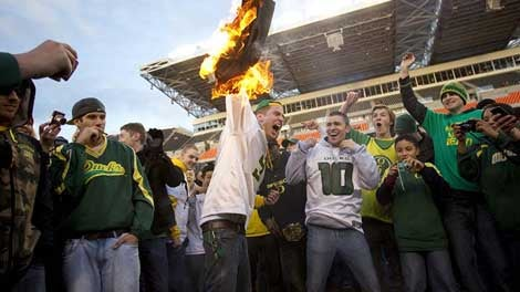 OK, Who's The Fool Oregon Fan That Started A Fire At The Civil War Game?