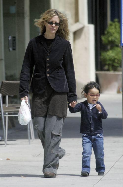 Meg Ryan Kicks It With Lollipop Kid