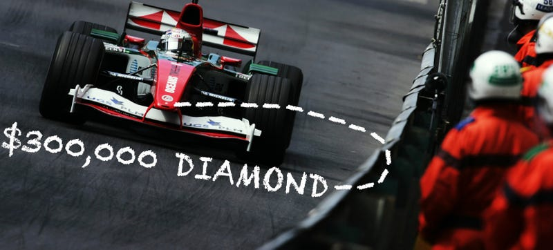 Here's How a Flawless $300,000 Diamond Was Lost In an F1 Car Crash