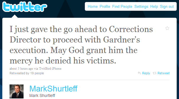 Utah Attorney General Uses Twitter to Announce Executions