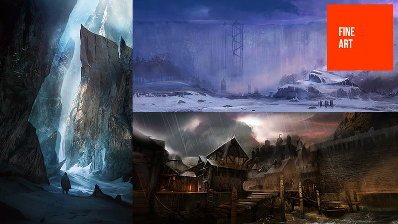 A Game of Thrones Concept Art Banished to The Wall