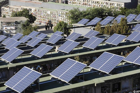 Spanish Town Putting the Dead to Work Generating Solar Power