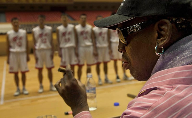 Dennis Rodman Is Back In North Korea For Our Dear Leader's Birthday