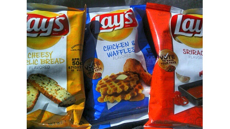 Chicken & Waffles? Sriracha? Oh Please Let These Be the New Lay's Chip Flavors