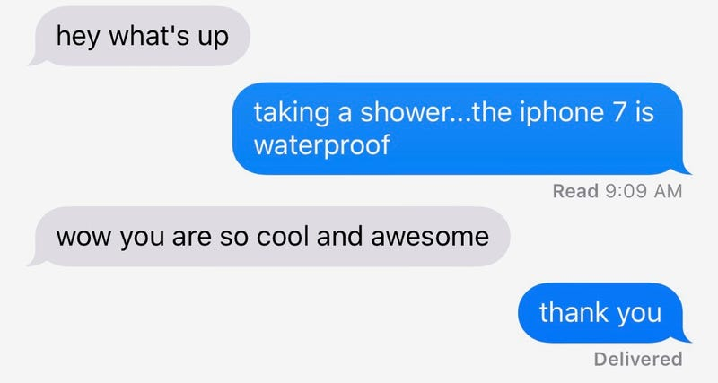 Using Your iPhone 7 in the Shower Is the Latest Status Symbol