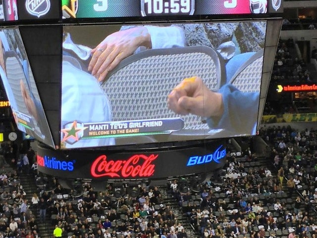 "The Dallas Stars Showed An Empty Chair On The Jumbotron, Identified It As ""Manti Te'o's Girlfriend"""