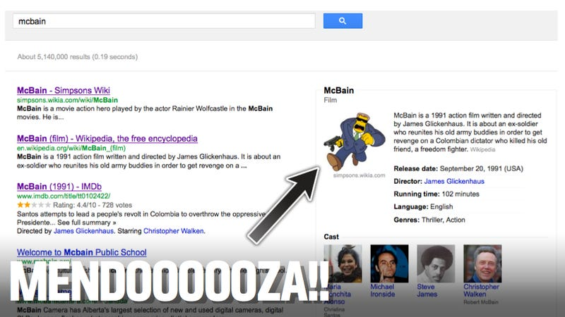 Google Accidentally Makes An Awesome Simpsons Reference