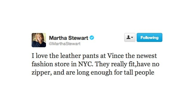 Let Us Pause and Take a Moment to Imagine Martha Stewart in Leather Pants