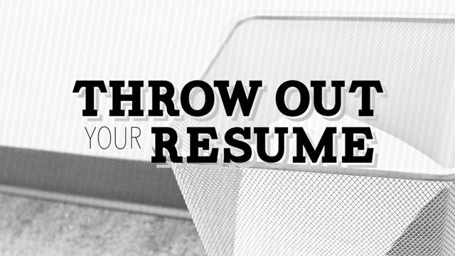 Throw Out Your Resume Walks You Through a Modern Application Process